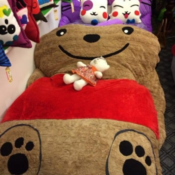 Nệm thú bông Teddy là sản phẩm được làm từ những nguyên liệu cao cấp và an toàn nhất