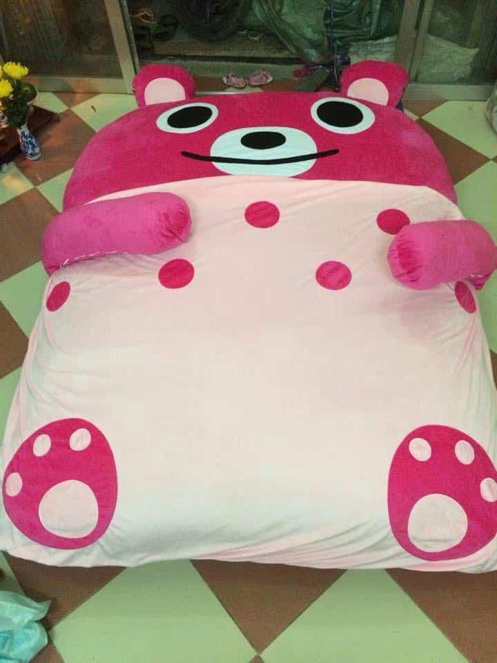 Nệm thú bông hình gấu Teddy cao cấp giá rẻ hà nội