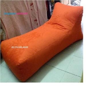 Ghế lười hạt xốp dáng sofa màu đỏ