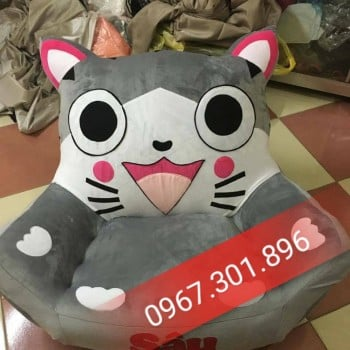 Ghế lười htaj xốp hình nhân vật hoat hình size S- mèo
