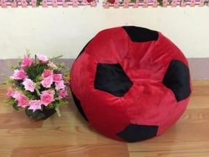 Ghế lười hạt xốp hình quả bóng size M đỏ