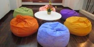 ghế lười hạt xốp hình tròn size S các màu