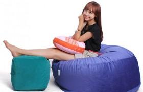 Ghế lười hình tròn size M màu xanh
