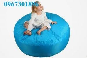 Ghế lười hạt xốp hình tròn màu xanh