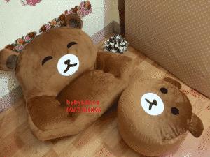 ghe lười hạt xốp hình gấu Bear-2
