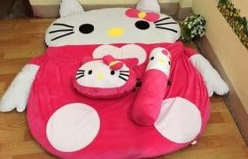 nệm thú bông hình mèo hello Kitty - 2