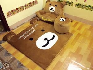 bộ ghế lười thú bông hình gấu Bear 2