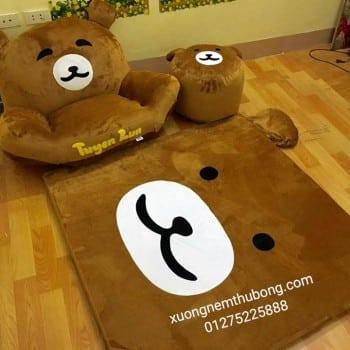 bộ ghế lười thú bông hình gấu Bear 1