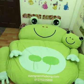 Nệm thú bông hình ếch xanh loại mỏng