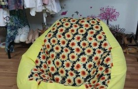 Ghế lười hạt xốp dáng lê Ghế lười dáng lê cotton size L GL_36 002 (4)