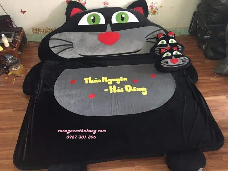 Đệm thú bông Babykid mèo đen Tom (4)