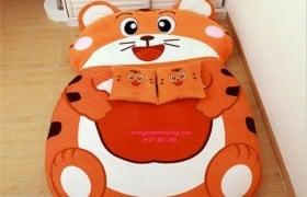 Đệm hình thú Hổ con Nhung lạnh (4)