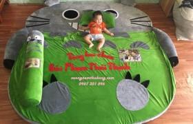 Đệm hình thú cao su non Totoro xanh (2)
