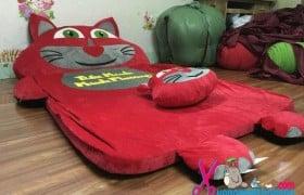Đệm thú bông ruột cao su non hình mèo Tom màu đỏ NTB083 (1)