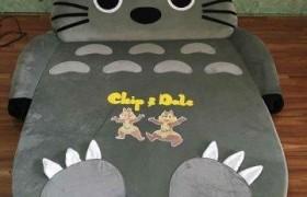 Nệm thú ruột cao su Totoro xám nhung NTB1287 (2)