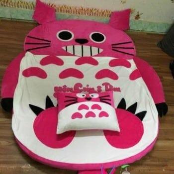 Đệm hình thú Babykid Totoro Hồng ruột cao su size 1m6 NTB090 (6)