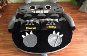 Nệm thú bông Totoro ruột cao su 1m6 NTB088 (2)