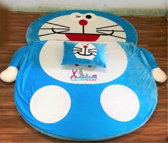Nệm thú bông Doraemon xanh nhạt 1m6 NTB092 (1)