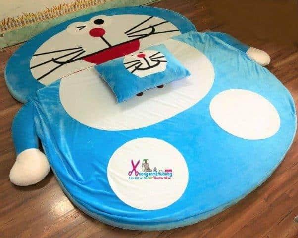 Nệm thú bông Doraemon xanh nhạt 1m6 NTB092 (2)