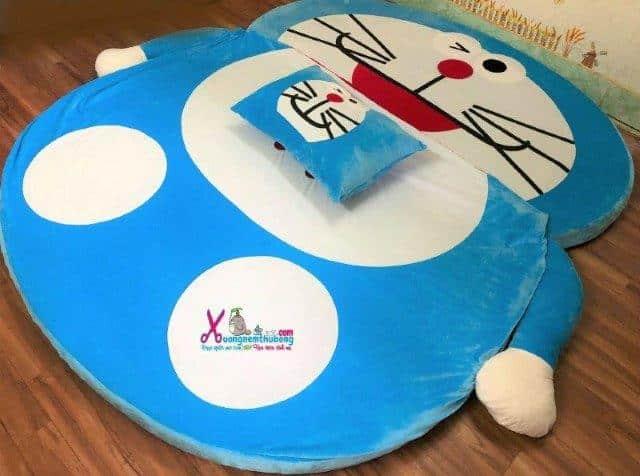 Nệm thú bông Doraemon xanh nhạt 1m6 NTB092 (3)