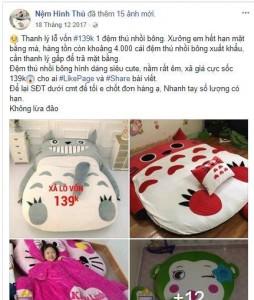 """[CẢNH BÁO] Chiêu lừa đảo với tên """" Nệm thú bông 139k"""" (2)"""