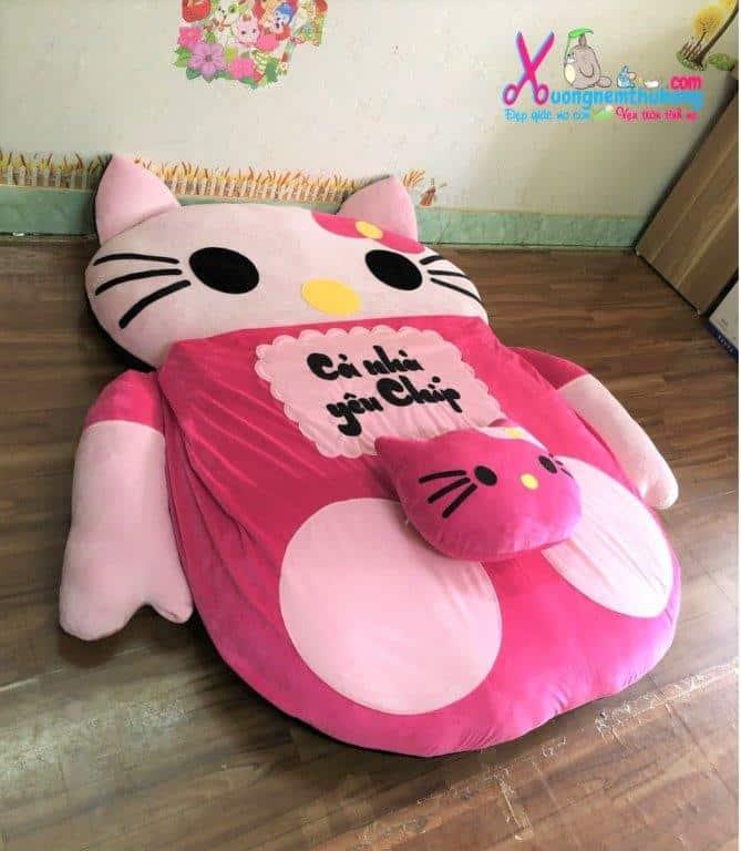Nệm thú nhồi bông hình Hello Kitty (3)